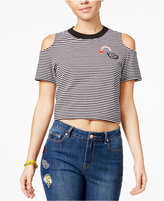 The Edit By Seventeen Juniors' Cropped Cold-Shoulder T-Shirt, Only at Macy's