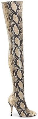 Stuart Weitzman Shiloh Over-The-Knee Snakeskin-Embossed Boots