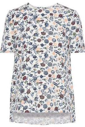ADAM by Adam Lippes Floral-print Silk-crepe T-shirt