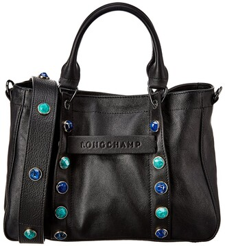 Longchamp 3D Studded Leather Tote
