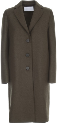 Harris Wharf London Women Overcoat Pressed Wool And Polaire