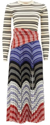 Altuzarra Woodbine Striped Stretch-knit Dress - White Multi