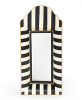 Mackenzie Childs MacKenzie-Childs Black & White Striped Mirror