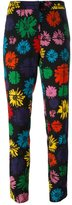 Moschino daisy print trousers - women - Nylon/Wool/other fibers - 42