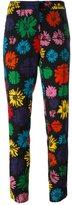 Moschino daisy print trousers - women - Wool/Nylon/other fibers - 42