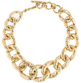 Kenneth Jay Lane Hammered Chain Necklace