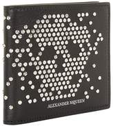 Alexander McQueen Leather Studded Skull Billfold Wallet