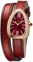 Bvlgari Rose Gold and Diamond Serpenti Watch 27mm