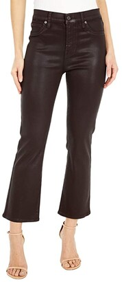 7 For All Mankind The High-Waist Slim Kick in Mocha Coated (Mocha Coated) Women's Jeans