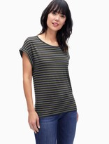 Splendid French Stripe Roll Up Tee