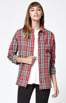 Obey Carmen Plaid Flannel Button-Down Shirt