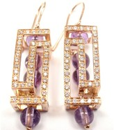 Versace Fedra 18K Rose Gold Diamond Amethyst Earrings