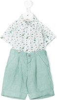 Cashmirino - Shirt and bermuda short set - kids - Cotton/Linen/Flax - 3 mth