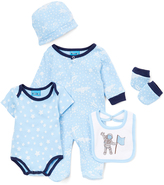 Sweet & Soft Blue Outerspace Five-Piece Layette Set