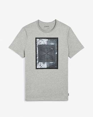 Express Relaxed Short Sleeve Mesh Graphic T-Shirt