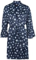 Topshop Star Print Satin Dressing Gown
