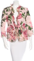 Dolce & Gabbana Ruffle-Trimmed Floral Jacket