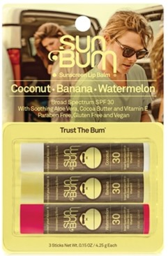 Sun Bum Original Spf 30 Sunscreen Lip Balm, 3-Pk.