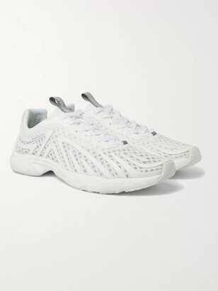 Acne Studios Buzz Faux Suede And Rubber-Trimmed Mesh Sneakers