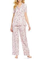 Cabernet Floral Jacquard Pajamas