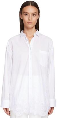 Ermanno Scervino Loose Cotton Poplin Shirt W/lace