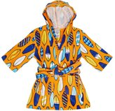 St. Eve Boys Hooded Terry Robe Bathing Suit Beach Cover-Up (Large (10/12), Orange/)