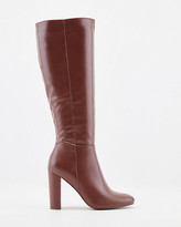 Le Château Faux Leather Almond Toe Knee High Boots