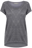 """Oasis SPARKLE KNIT TEE [span class=""""variation_color_heading""""]- Mid Grey[/span]"""