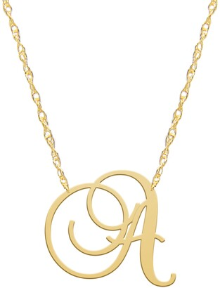 Jane Basch Designs Swirly Initial Pendant Necklace