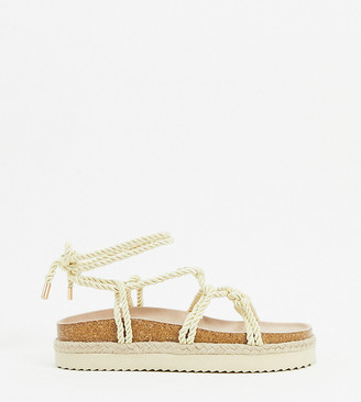 South Beach rope footbed sandals in natural