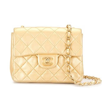 Chanel Pre Owned 2002 Diamond Quilted Flap Chain Crossbody Bag