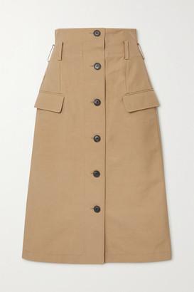 Victoria Beckham Cotton-blend Skirt - Taupe