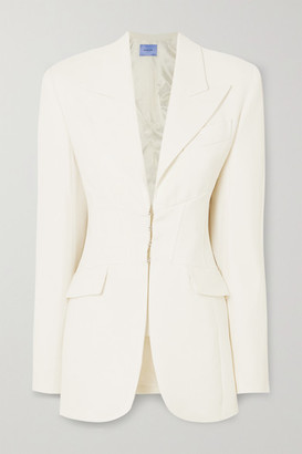 Thierry Mugler Wool Blazer - White