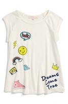 Toddler Girl's Truly Me Hello Dreams Patch Tee