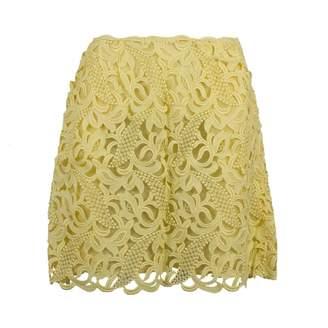 Valentino Yellow Silk Skirts