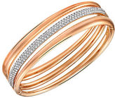 Swarovski Exact Pave and 18K Rose Gold Bangle Bracelet