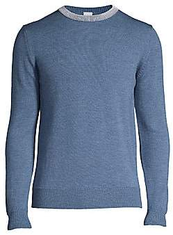 eidos Men's Contrast Collar Crewneck Sweater