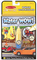 Melissa & Doug NEW Water Wow! Vehicle Colouring Pad