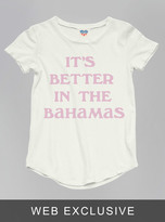 Junk Food Clothing Kids Girls Its Better In The Bahamas Tee-sugar-xl