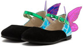 Sophia Webster Chiara Butterfly Wing Flat, Black/Teal, Toddler/Youth