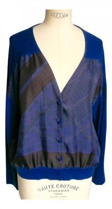 Hermes Blue Silk Knitwear