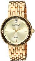 Ellen Tracy Women's Quartz Metal and Alloy Casual Watch, Color:Gold-Toned (Model: ET5275GD)