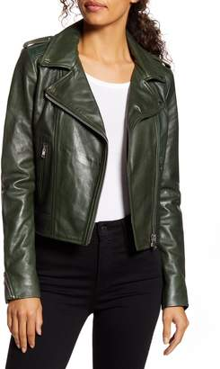LAMARQUE Donna Lambskin Leather Moto Jacket