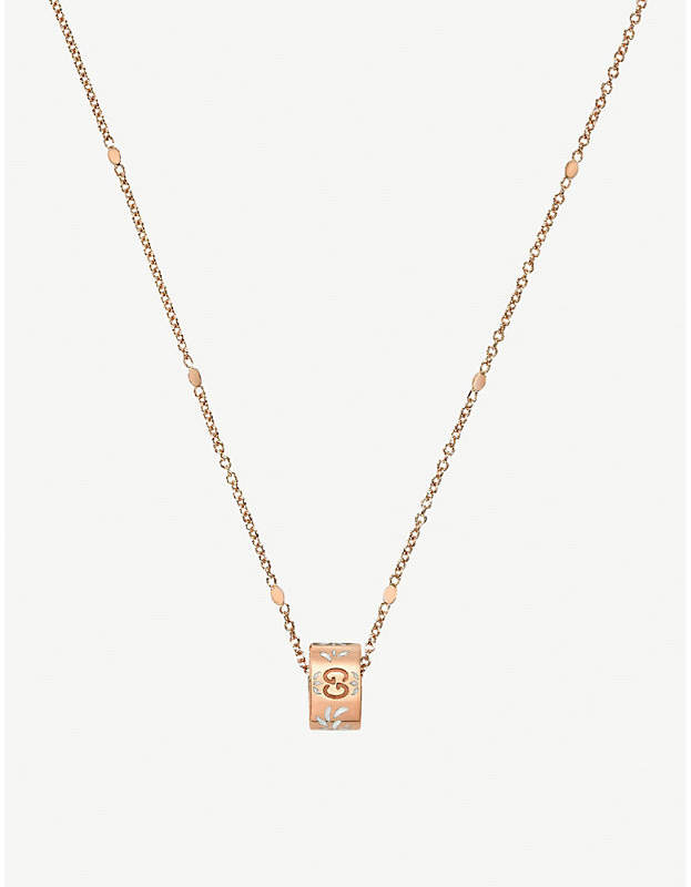 Gucci Icon blossom 18ct rose gold necklace