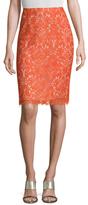 Carolina Herrera Lace Pencil Skirt