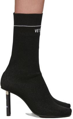 Vetements Black STAR WARS Edition Glitter Darth Vader Sock Boots