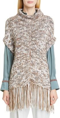 Brunello Cucinelli Sequin Poncho Sweater