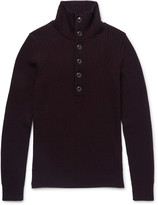 Dolce & Gabbana - Funnel-neck Virgin Wool Sweater