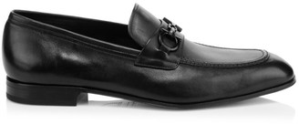 Salvatore Ferragamo Asten Gancini Bit Leather Loafers