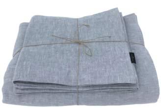 Melange Home True Linen Light Grey Linen Bedding Set